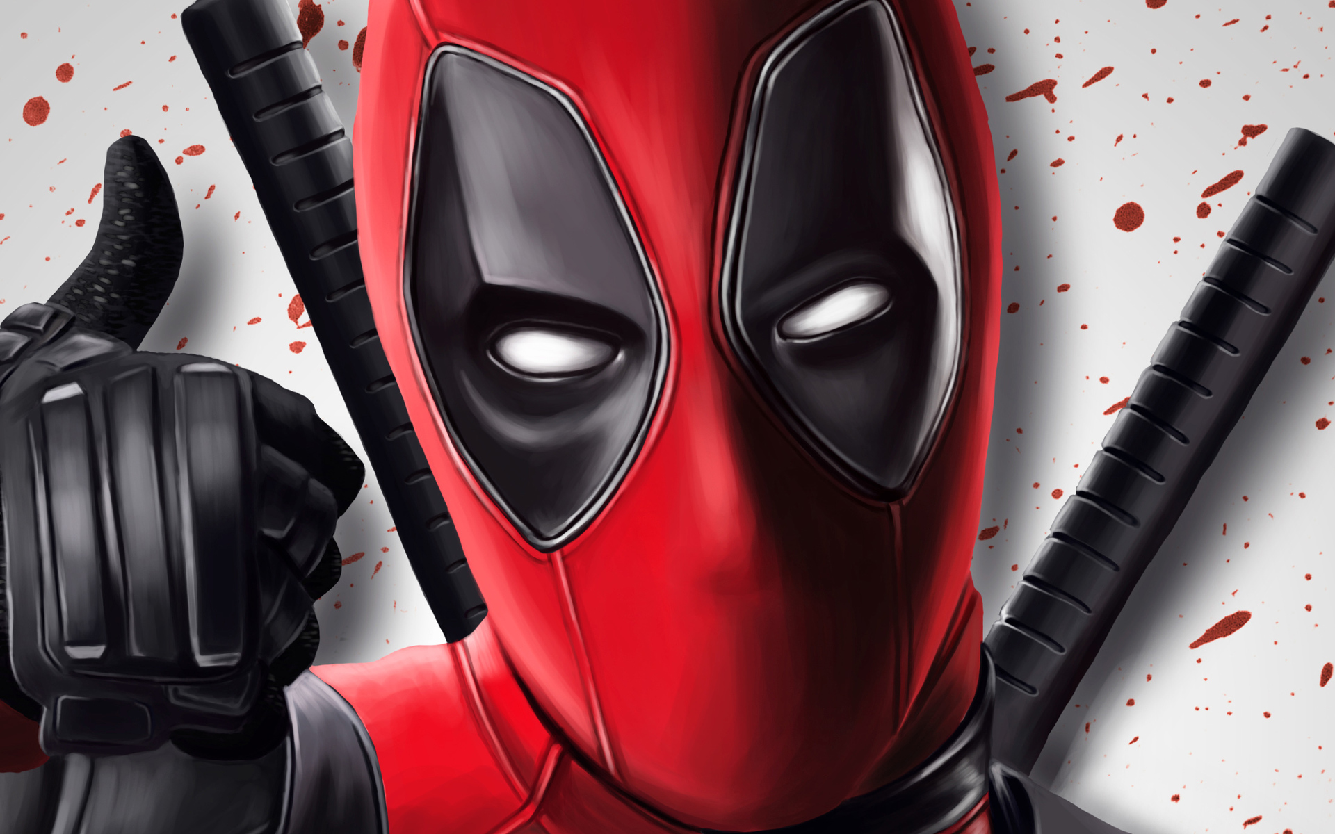 Deadpool Thumb Up Artwork Superheroes Marvel Comics Deadpool Portrait Wallpaper Hd 502061 Hd Wallpaper Backgrounds Download