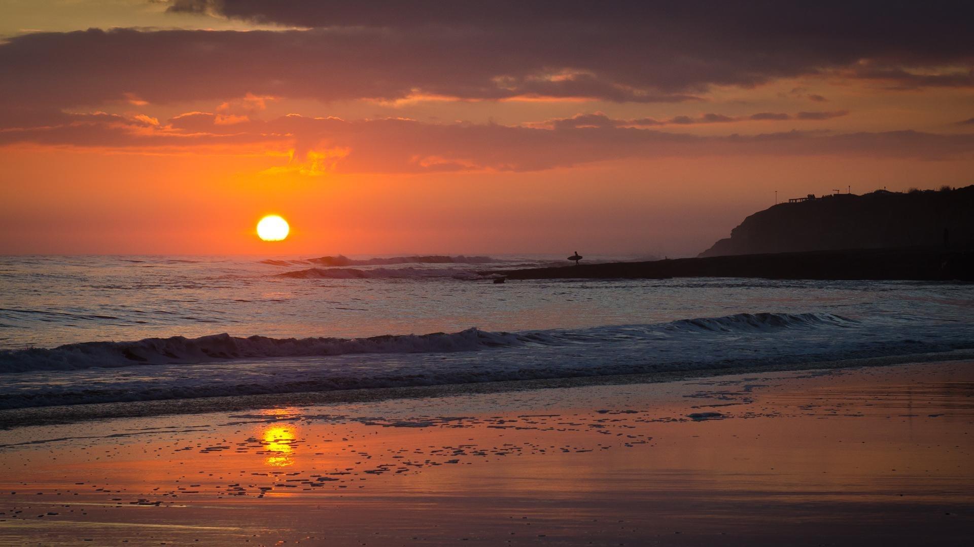 Beautiful Sunset Scenery Drawing Hd Wallpaper Luz Do Sol