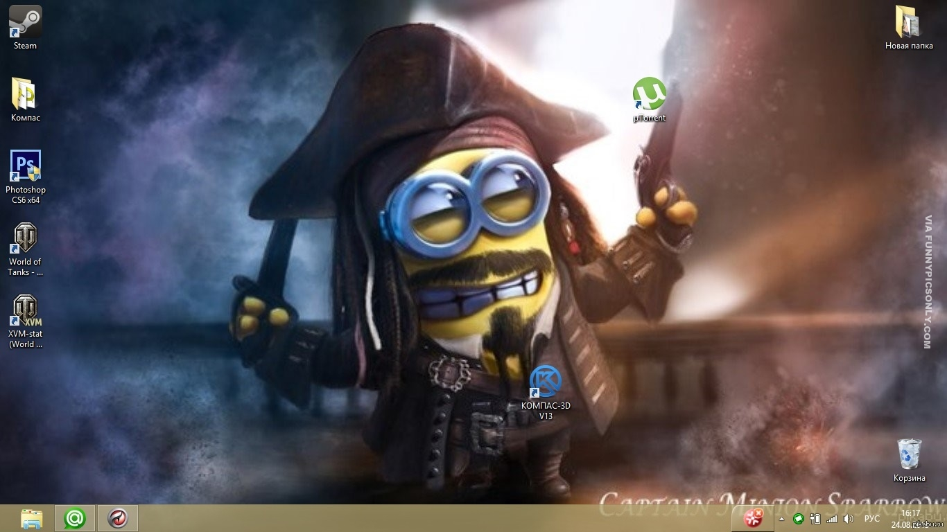 Funny And Creative Uses Of Desktop Wallpapers Pirates Of The