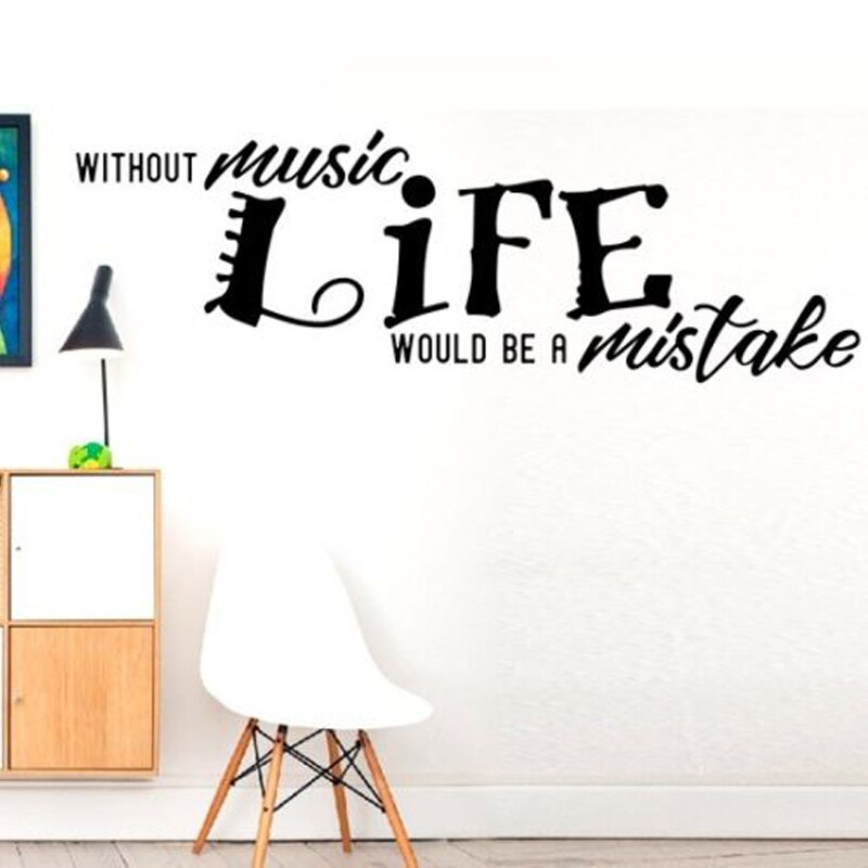 Without Music Life Would Be A Mistake Wall Stickers - Decal , HD Wallpaper & Backgrounds