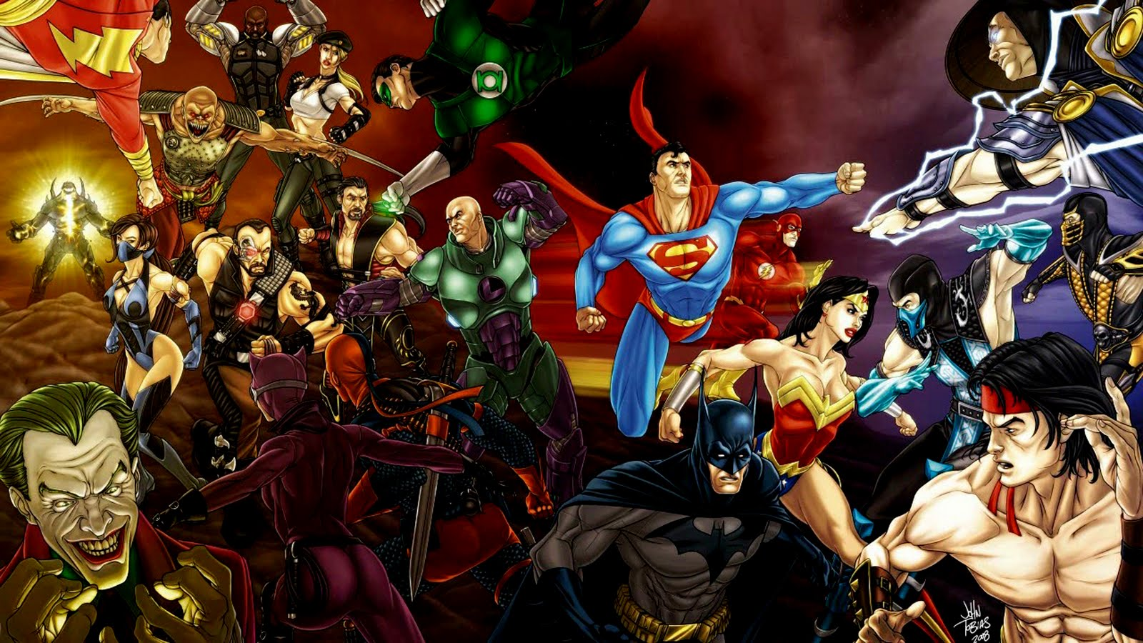 Free Dc Comics Wallpaper Mortal Kombat Vs Dc Universe