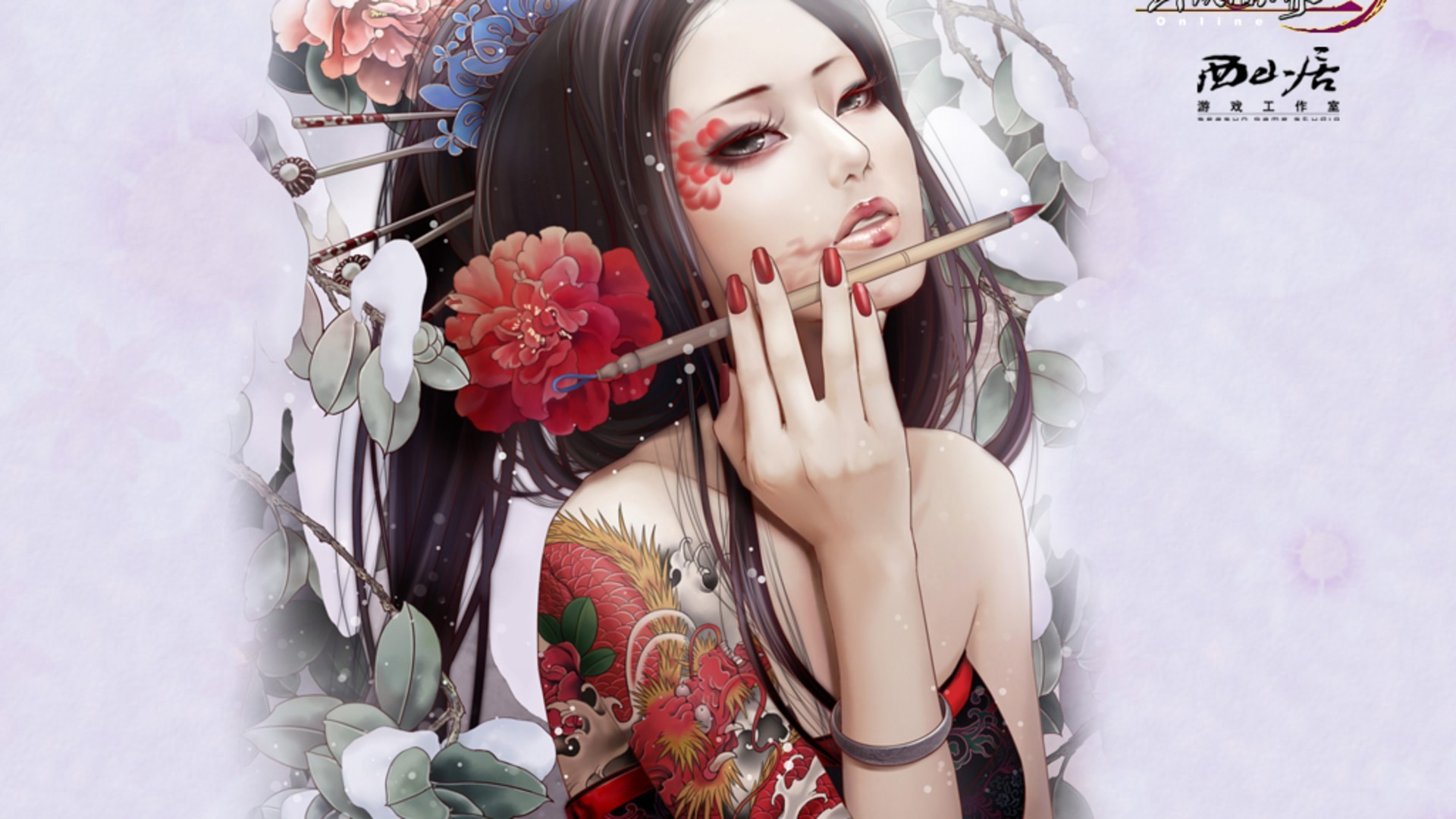 Res - 1920x1080, - Beautiful Chinese Woman Drawing , HD Wallpaper & Backgrounds
