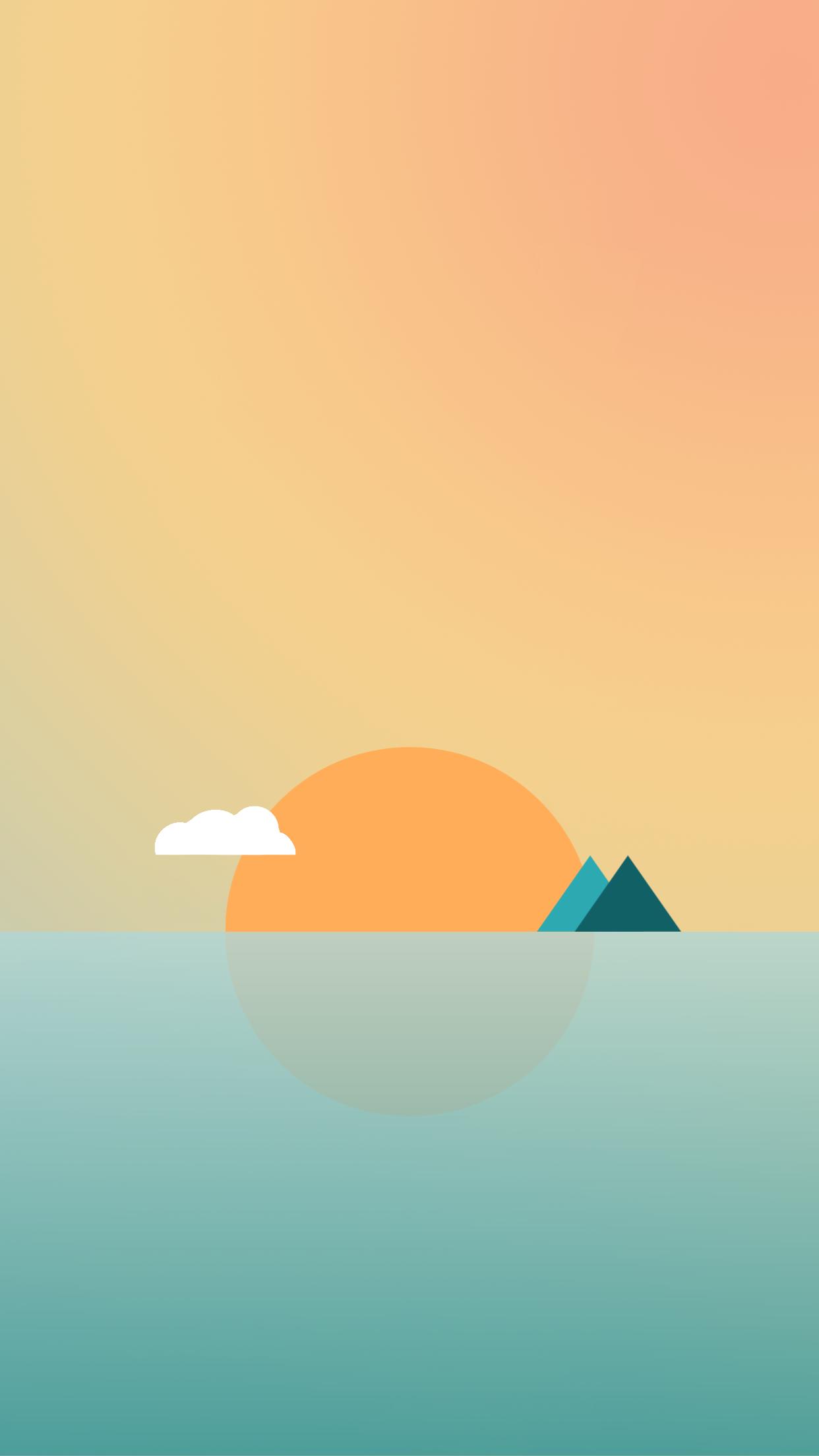 Sweet As Apple Geometry Iphone Wallpaper 035 1 Minimalist Wallpaper Iphone Sun 516691 Hd Wallpaper Backgrounds Download