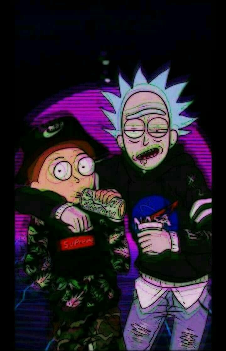 Iphone Wallpapers Dope Wallpapers Wallpaper Backgrounds - Rick And Morty Supreme , HD Wallpaper & Backgrounds