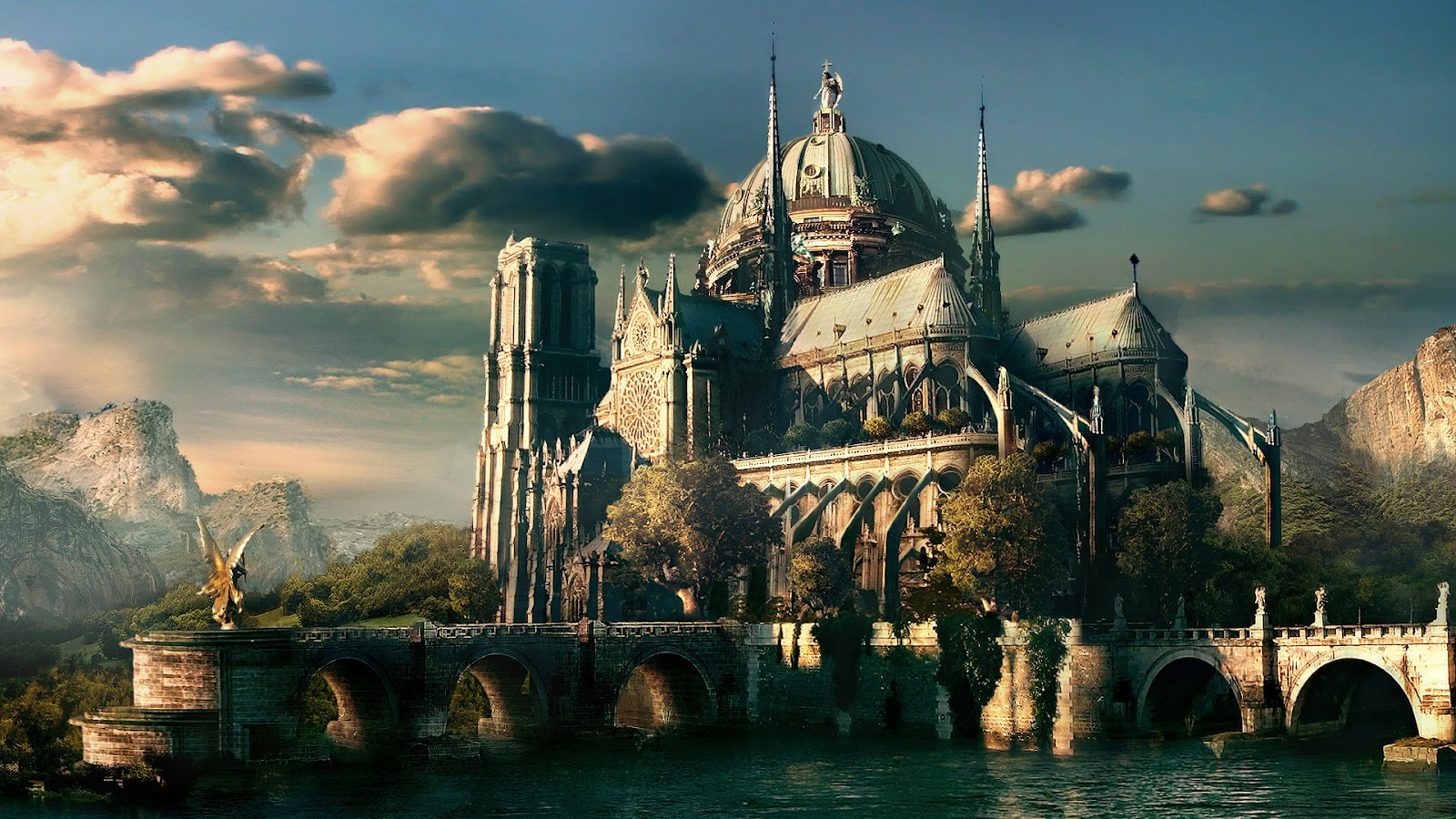 Liquicity Dreamworld Hd Desktop Wallpaper Fantasy Castle
