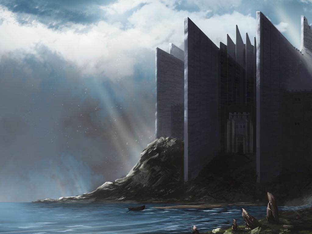 Download Castle Dental, Castle Edge Insurance Wallpaper - Fantasy Castle On The Coast , HD Wallpaper & Backgrounds