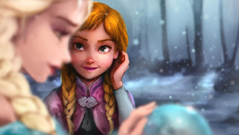 Cold Heart, Disney, Elsa, Frozen, Anna Desktop Background - Da Anna E Elsa , HD Wallpaper & Backgrounds