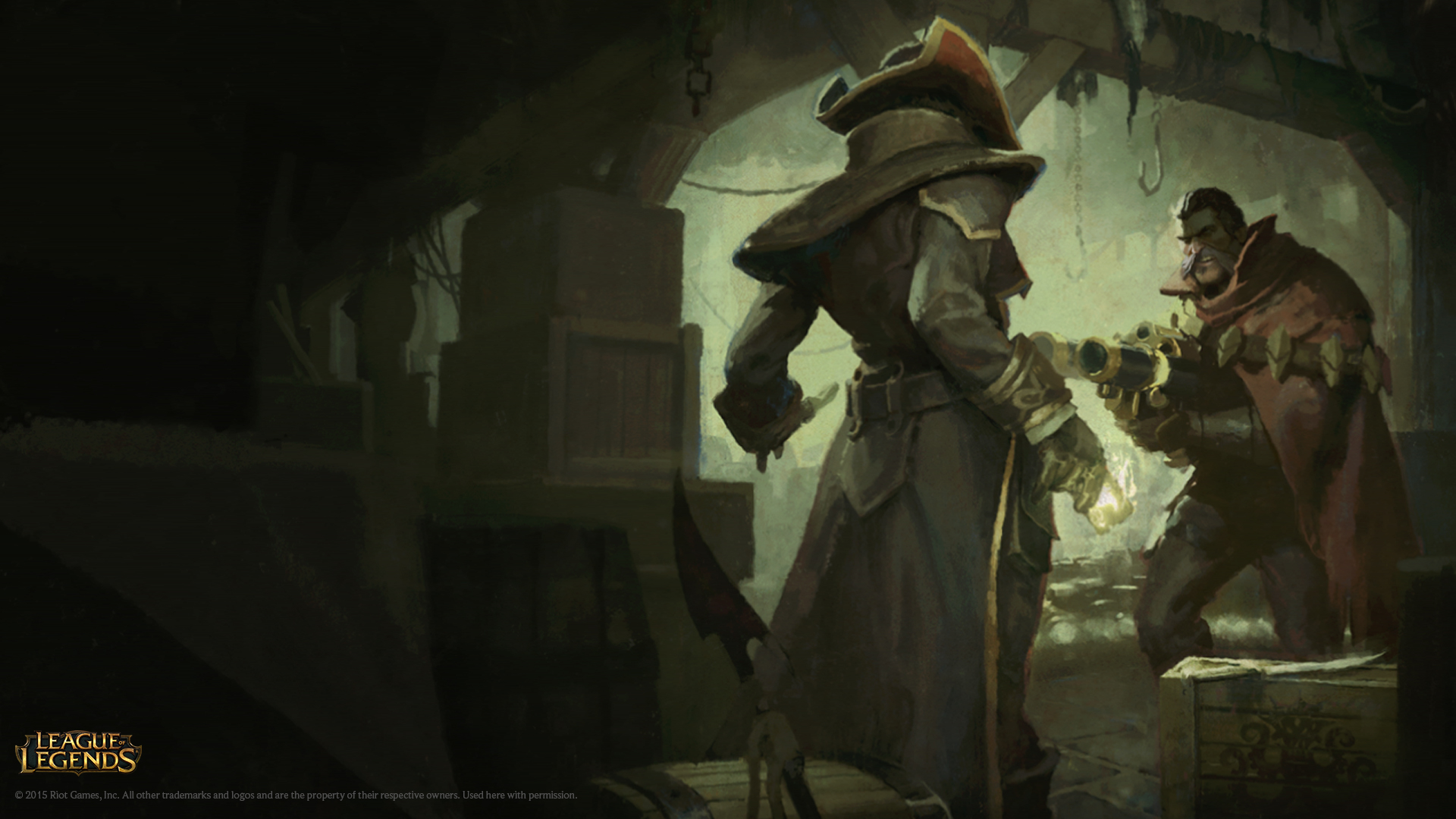 Twisted Fate And Graves Login Screen , HD Wallpaper & Backgrounds