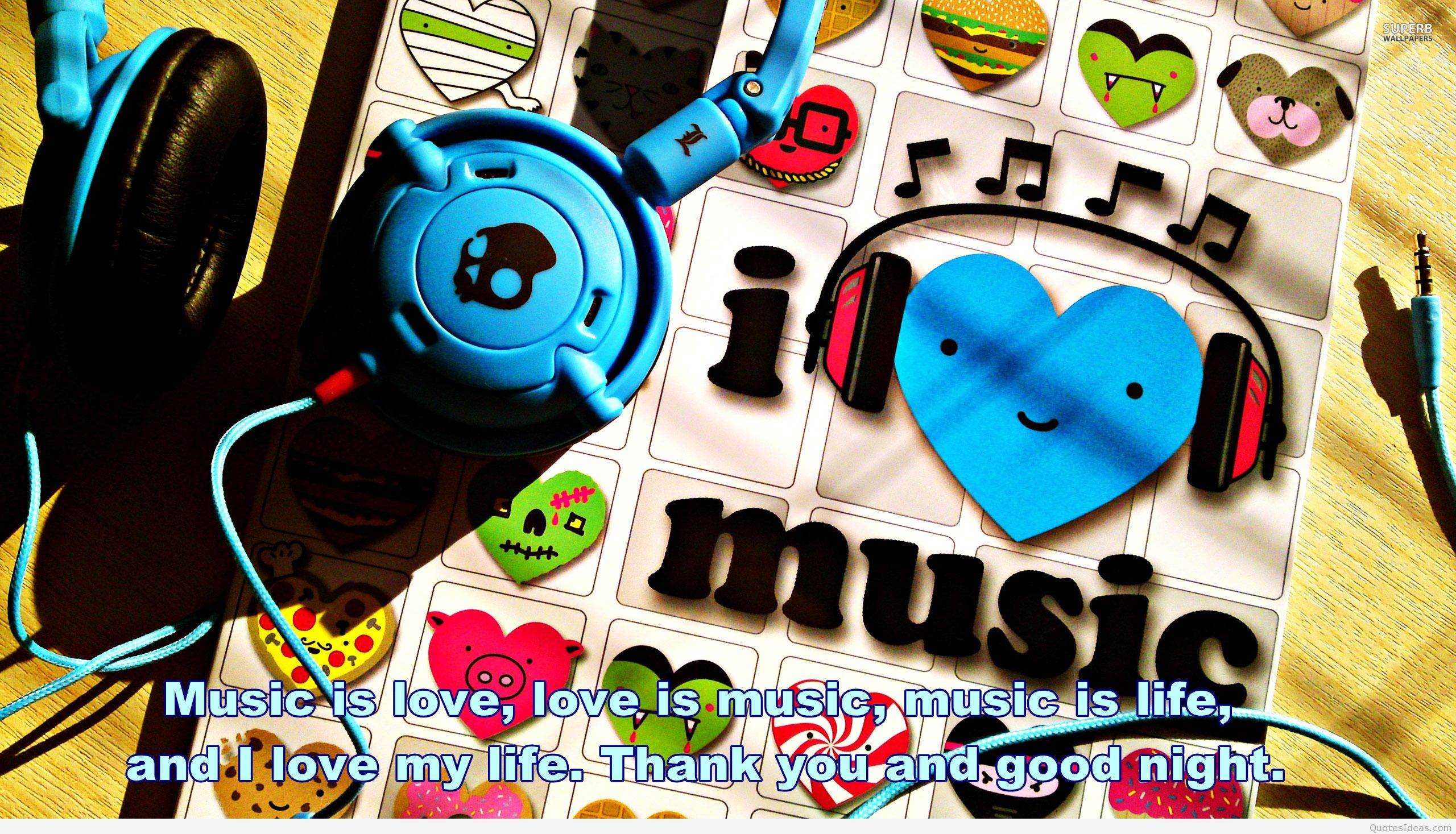Music Photo Quote - Love Music Wallpaper Hd For Desktop , HD Wallpaper & Backgrounds