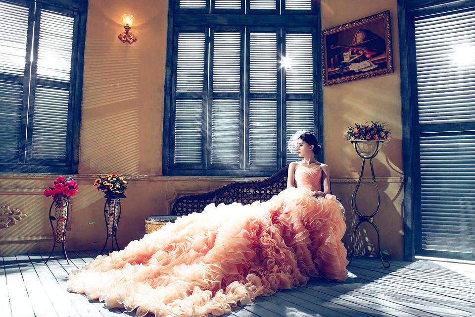 Wedding Dresses, Bride, Pink, Elegant - Original Wedding Dress Colors , HD Wallpaper & Backgrounds