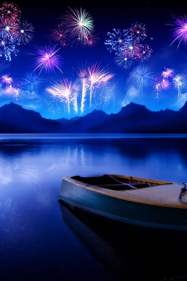 Fire Works New Year Text, New Year's Eve Wallpaper, - Happy New Year Boating , HD Wallpaper & Backgrounds