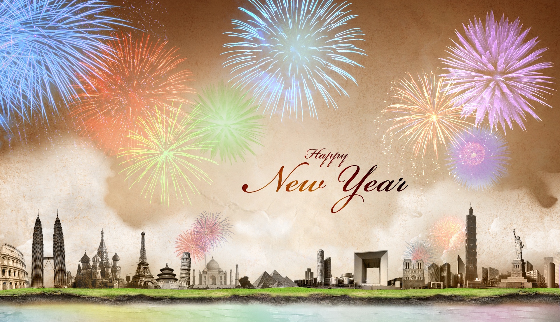 New Year Wallpaper - Happy New Year 2017 London , HD Wallpaper & Backgrounds