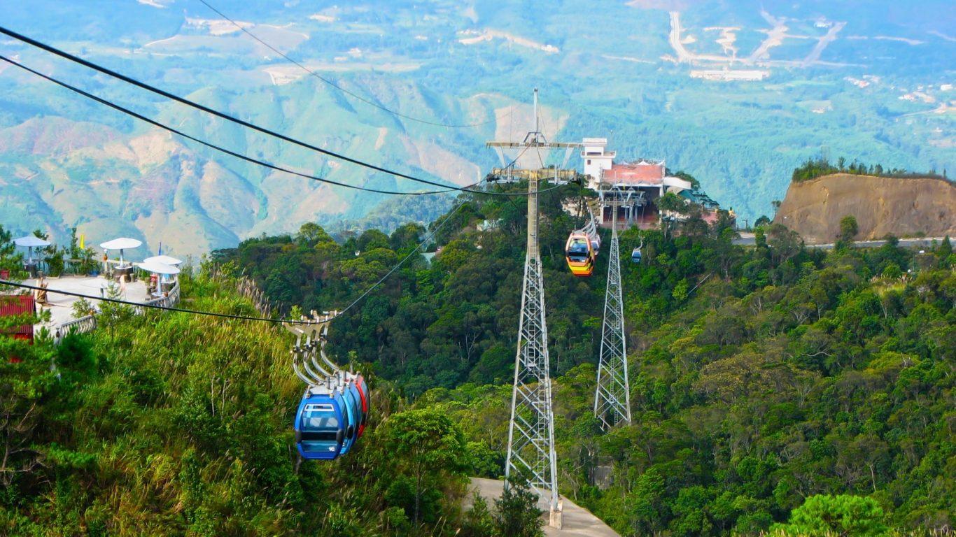 Nature Mountains Landscape Cars Ride Landscapes Cable - Ba Na Da Nang , HD Wallpaper & Backgrounds