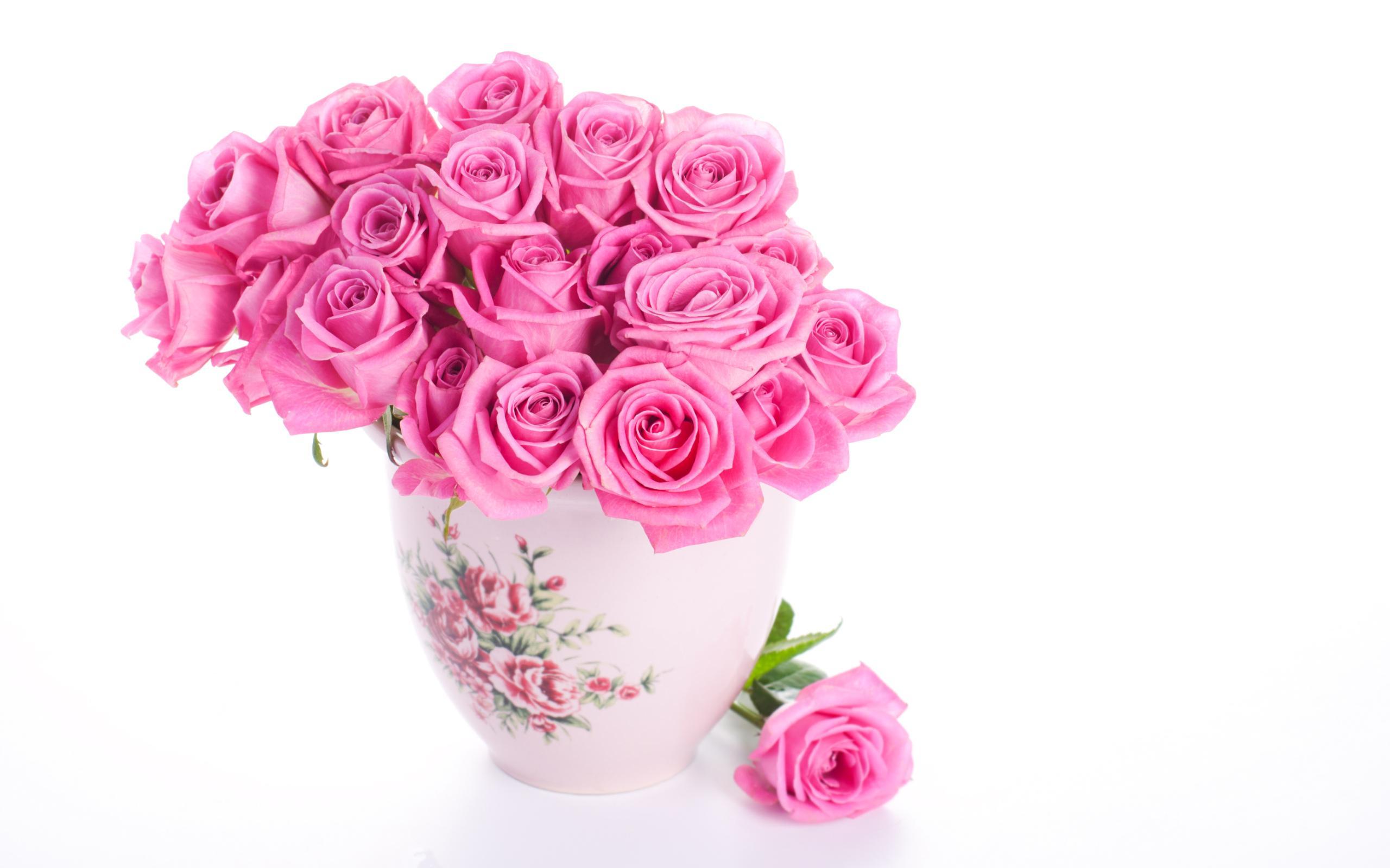 Pink Rose Live Wallpaper Download - Pink Rose Flower Vase , HD Wallpaper & Backgrounds
