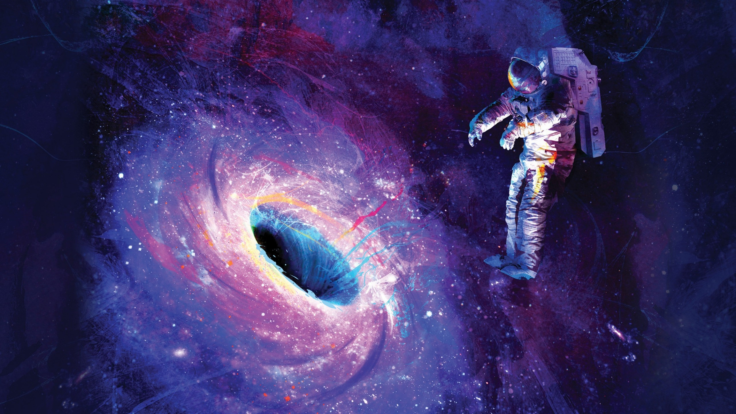 Astronauts, Space, Colorful Wallpaper - Astronauts In Space Art , HD Wallpaper & Backgrounds