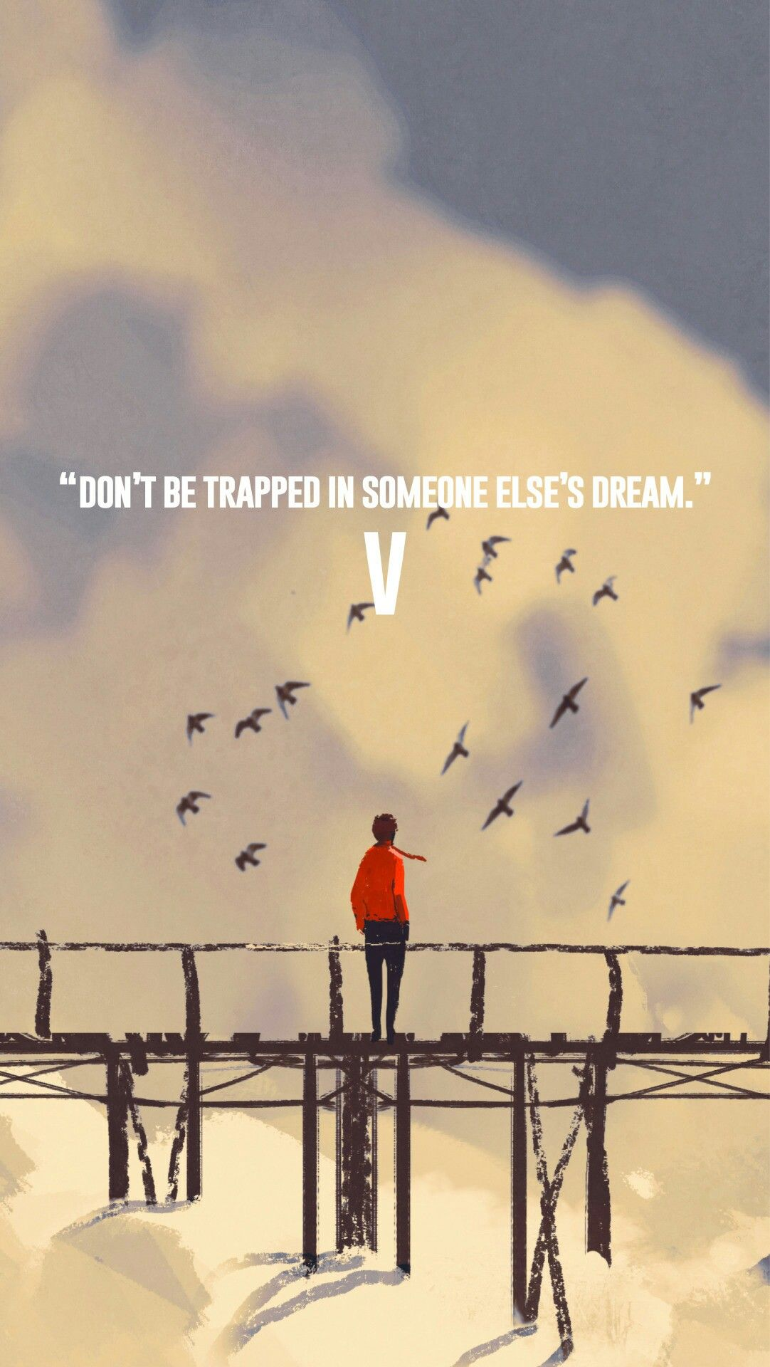 V Wallpaper - Fake Love Quotes Bts , HD Wallpaper & Backgrounds