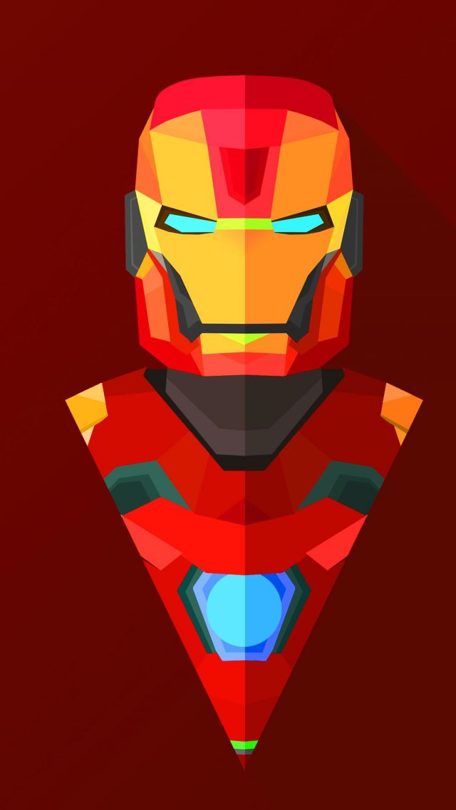 Iphone Wallpaper Iron Man, Abstract, Low Poly, Minimalism, - Iron Man Wallpaper 4k Phone , HD Wallpaper & Backgrounds