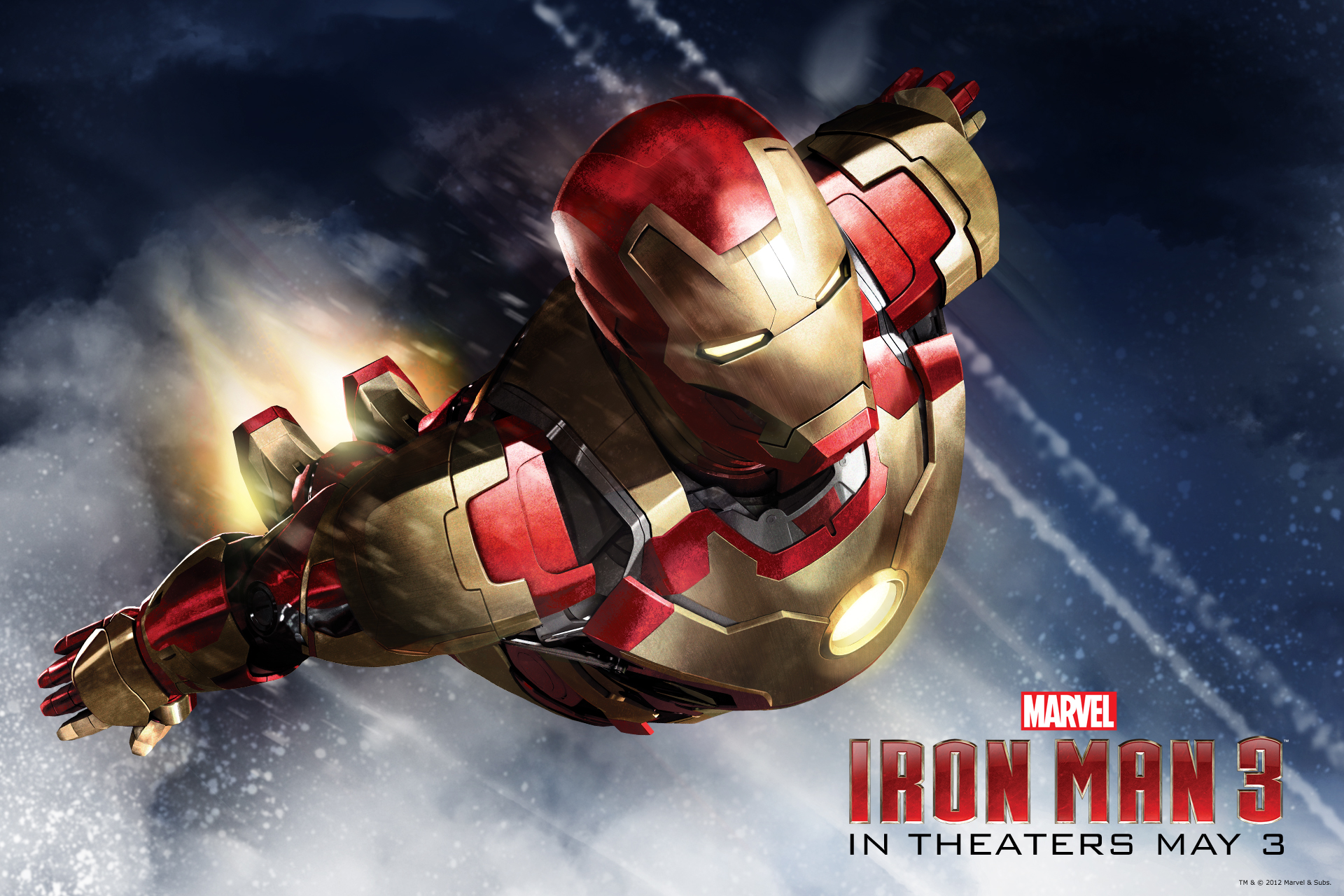Iron Man 3 Flying 552344 Hd Wallpaper Backgrounds Download