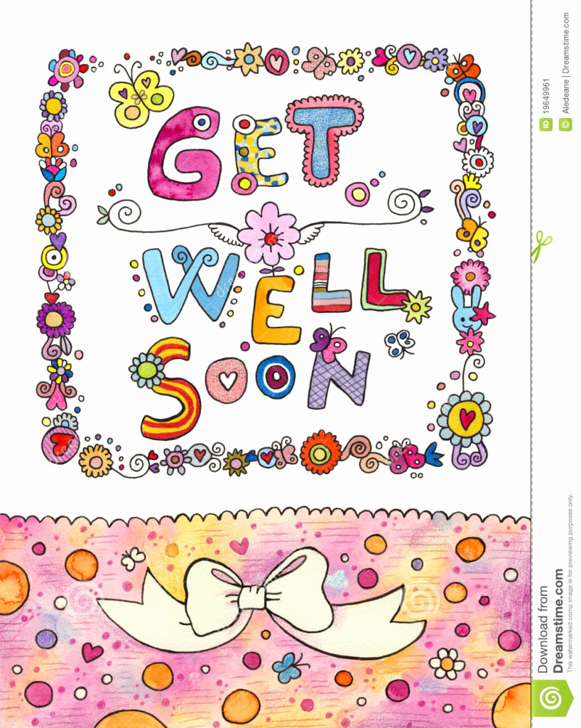 It's just a graphic of Get Well Soon Printable throughout drawing
