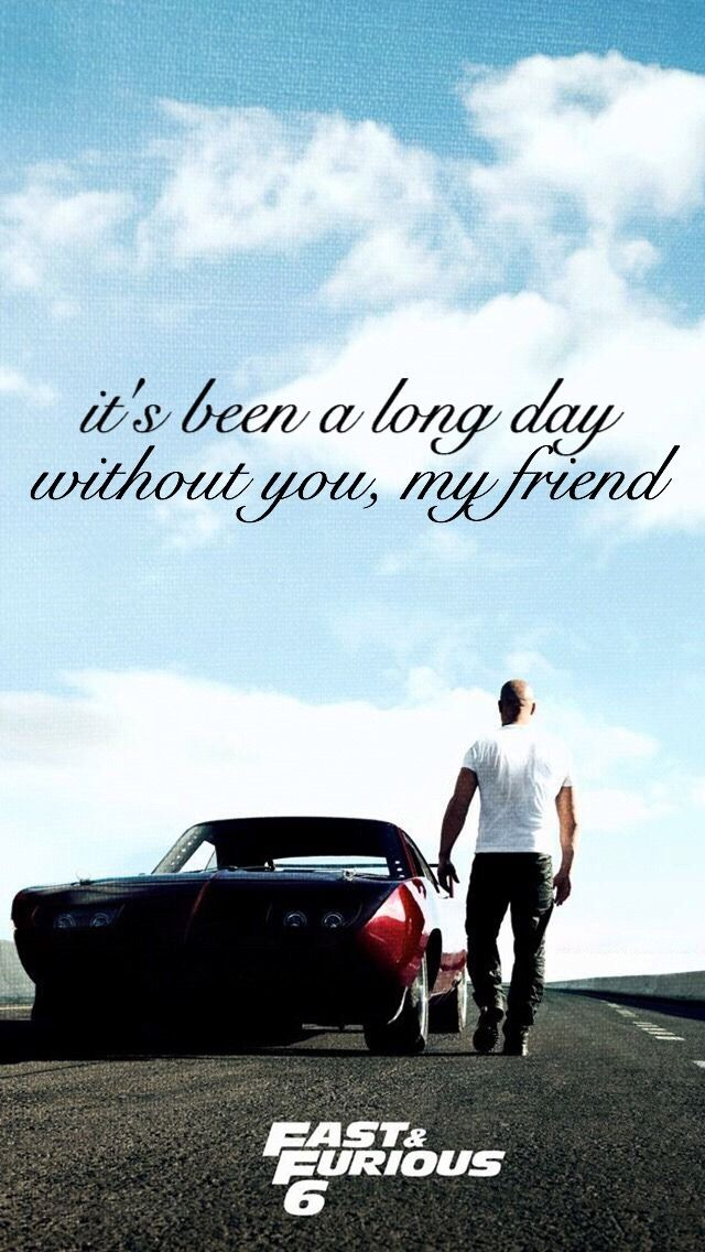 Fast & Furious / See You Again Lyrics Backgrounds - Fast And Furious Dom Poster , HD Wallpaper & Backgrounds