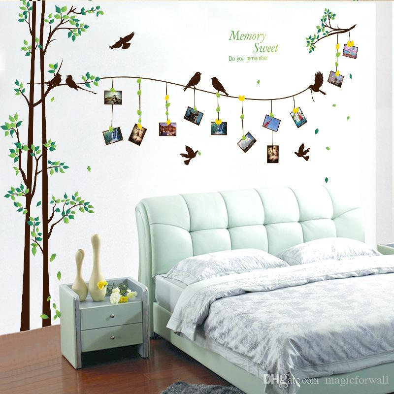 Birds On The Tree Picture Frame Wall Decal Home Decor - Bedroom Tree Wall Art , HD Wallpaper & Backgrounds