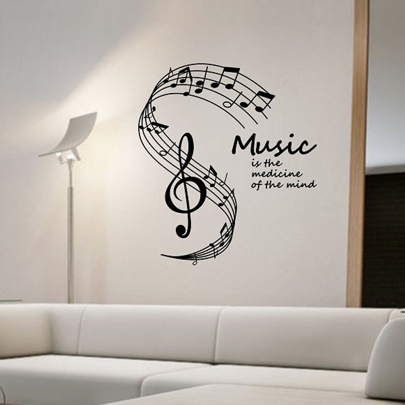 Music Is Life Musical Notes For Living Room Wall Art - Music Note Wall Paintings , HD Wallpaper & Backgrounds
