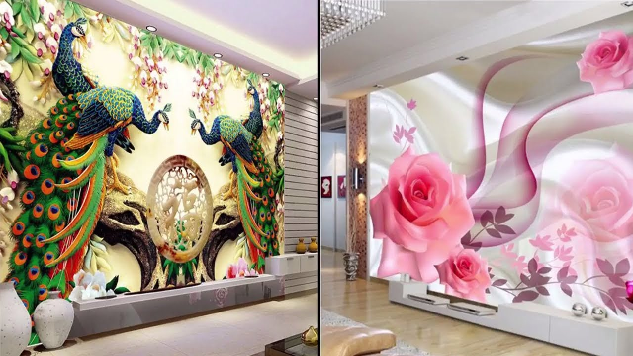 Modern And Stylish 3d Wall Decoration In Living Room - 3d Wall Sticker For Living Room , HD Wallpaper & Backgrounds