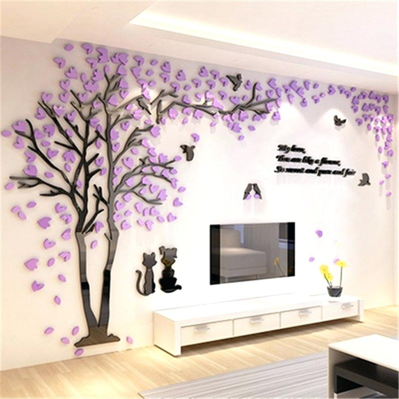 3d Wallpaper Sticker Wall Art 3d Acrylic Wall Stickers - Bedroom Home Wall Decoration , HD Wallpaper & Backgrounds