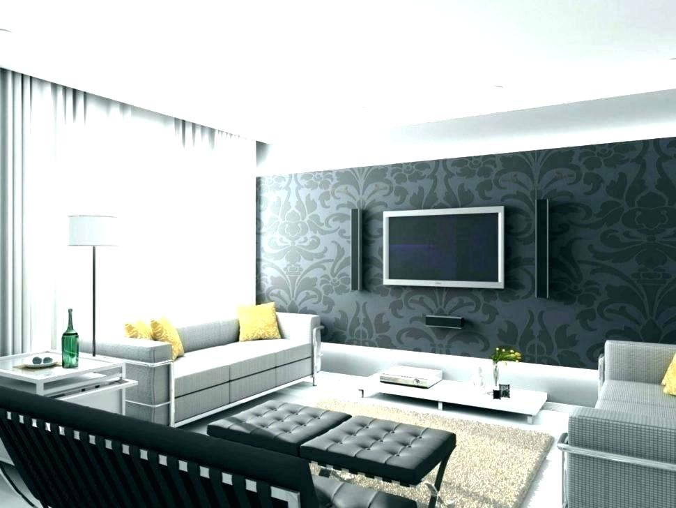 Cool Wallpaper Ideas Living Room Grey Small Space Modern