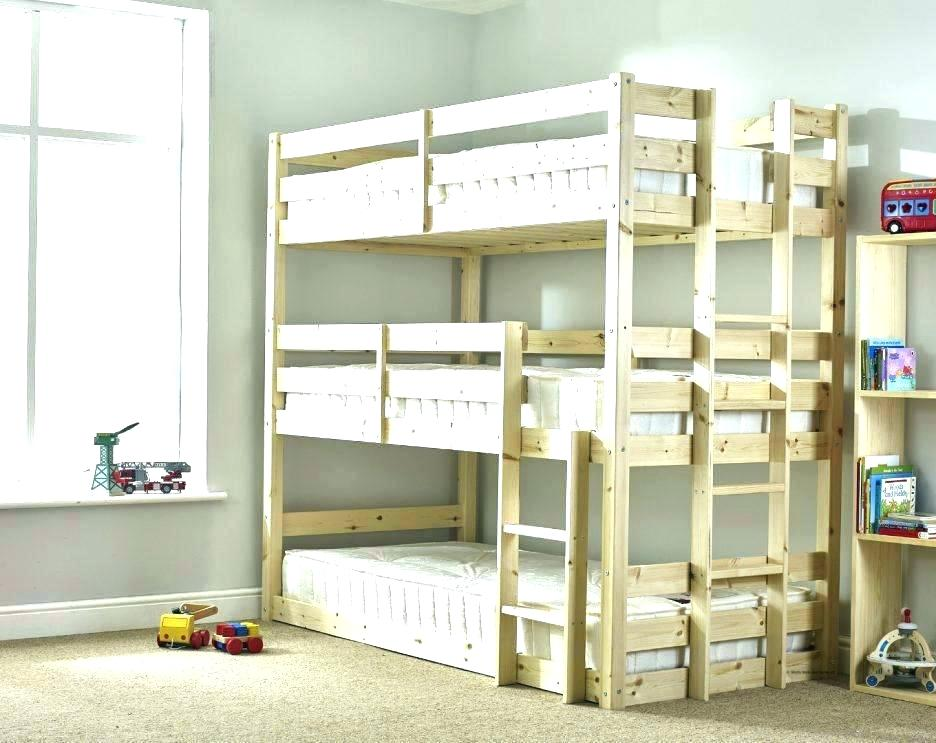 Loft Beds For Small Rooms Bed Ideas Adults Space Saving - Triple Sleeper Bunk Bed , HD Wallpaper & Backgrounds