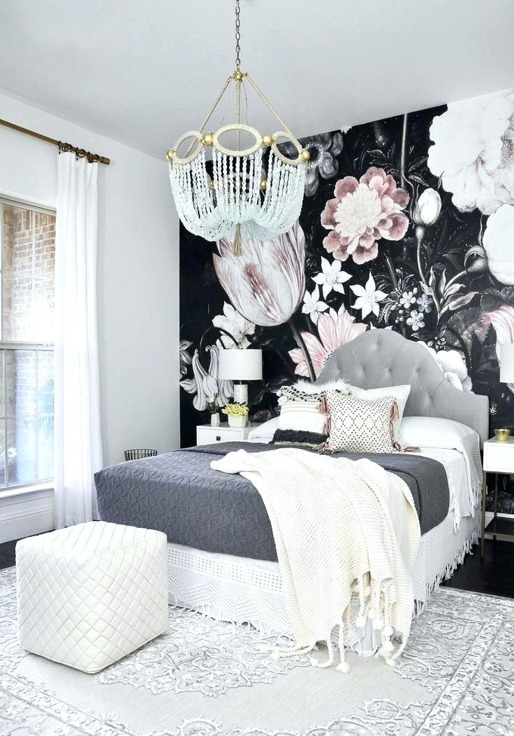 Wallpaper - Black Floral Wallpaper Bedroom (#558355) - HD ...