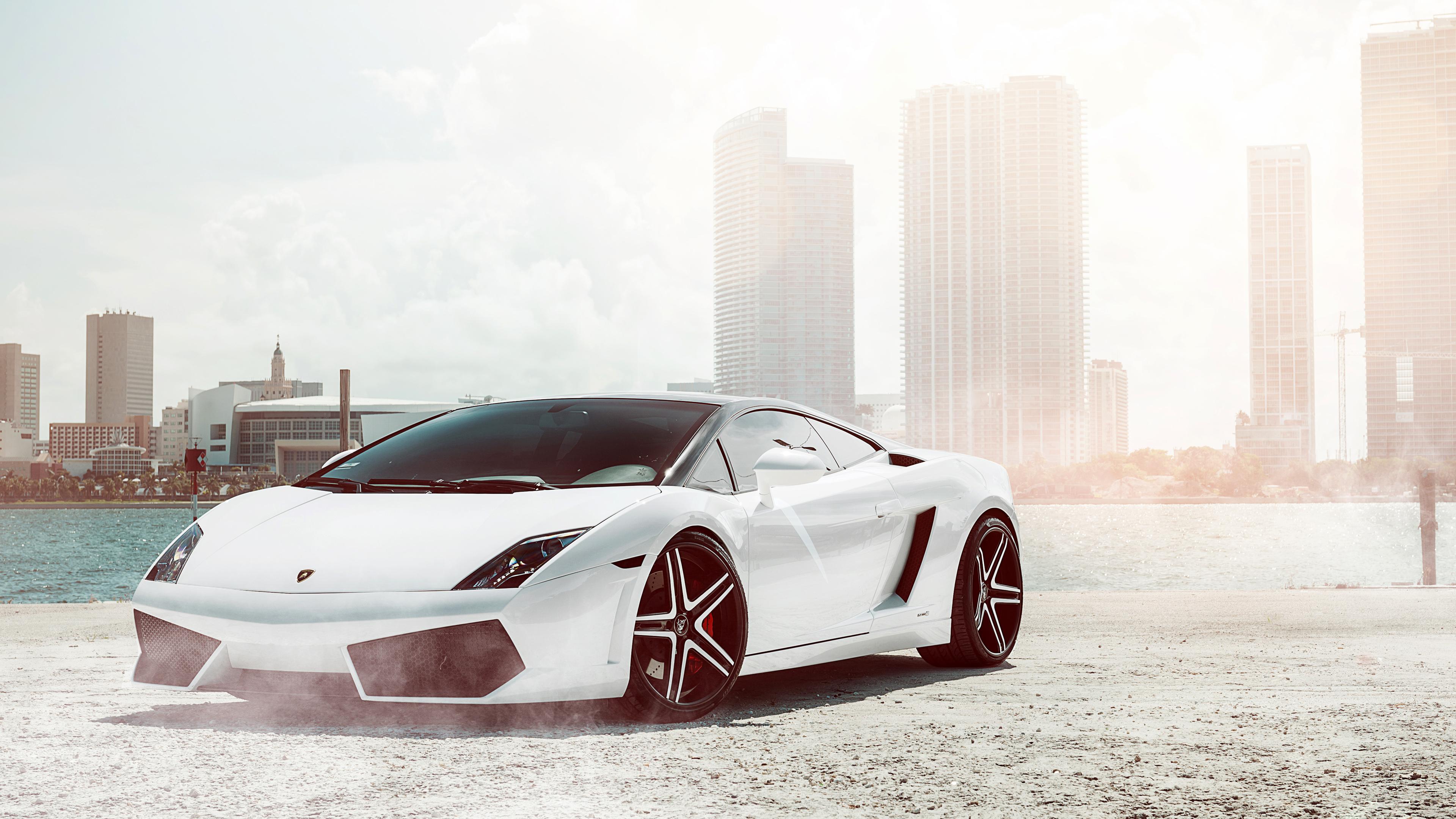 Lamborghini White Wallpapers Hd Pixelstalk Net - 4k Ultra Hd Cars , HD Wallpaper & Backgrounds