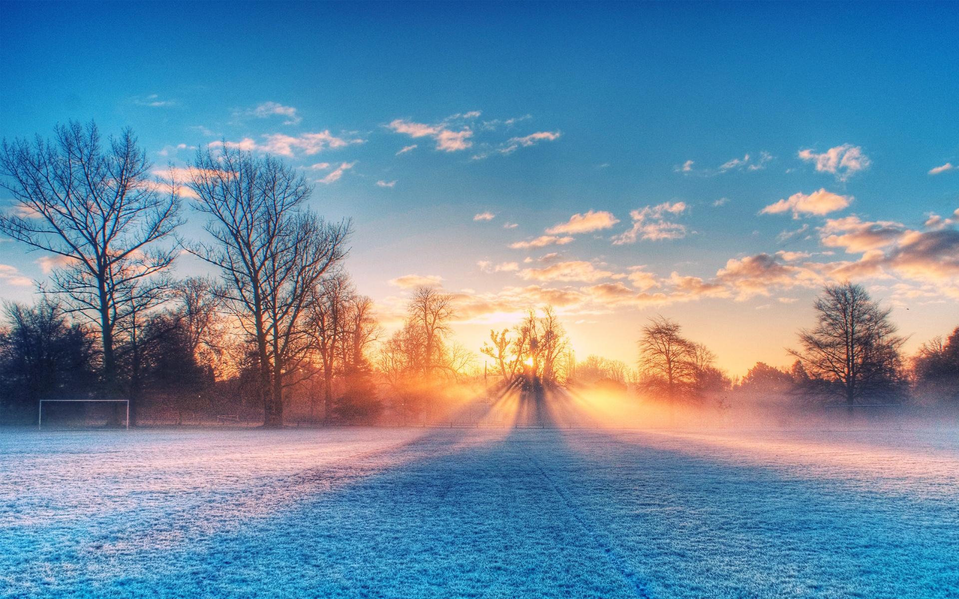 Wallpaper Nature Full Size Desktop - Frosty Morning , HD Wallpaper & Backgrounds