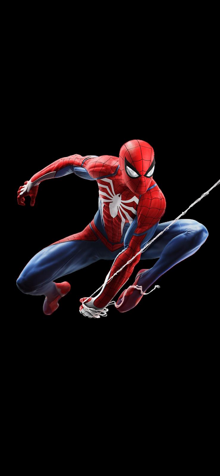 Spider Man V2 Iphone X Spider Man With Black Background