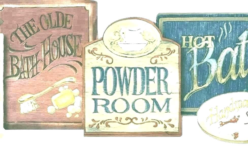 Bathroom Wall Border Country Wallpaper Borders Bathroom Vintage Bathroom Signs 569327 Hd Wallpaper Backgrounds Download