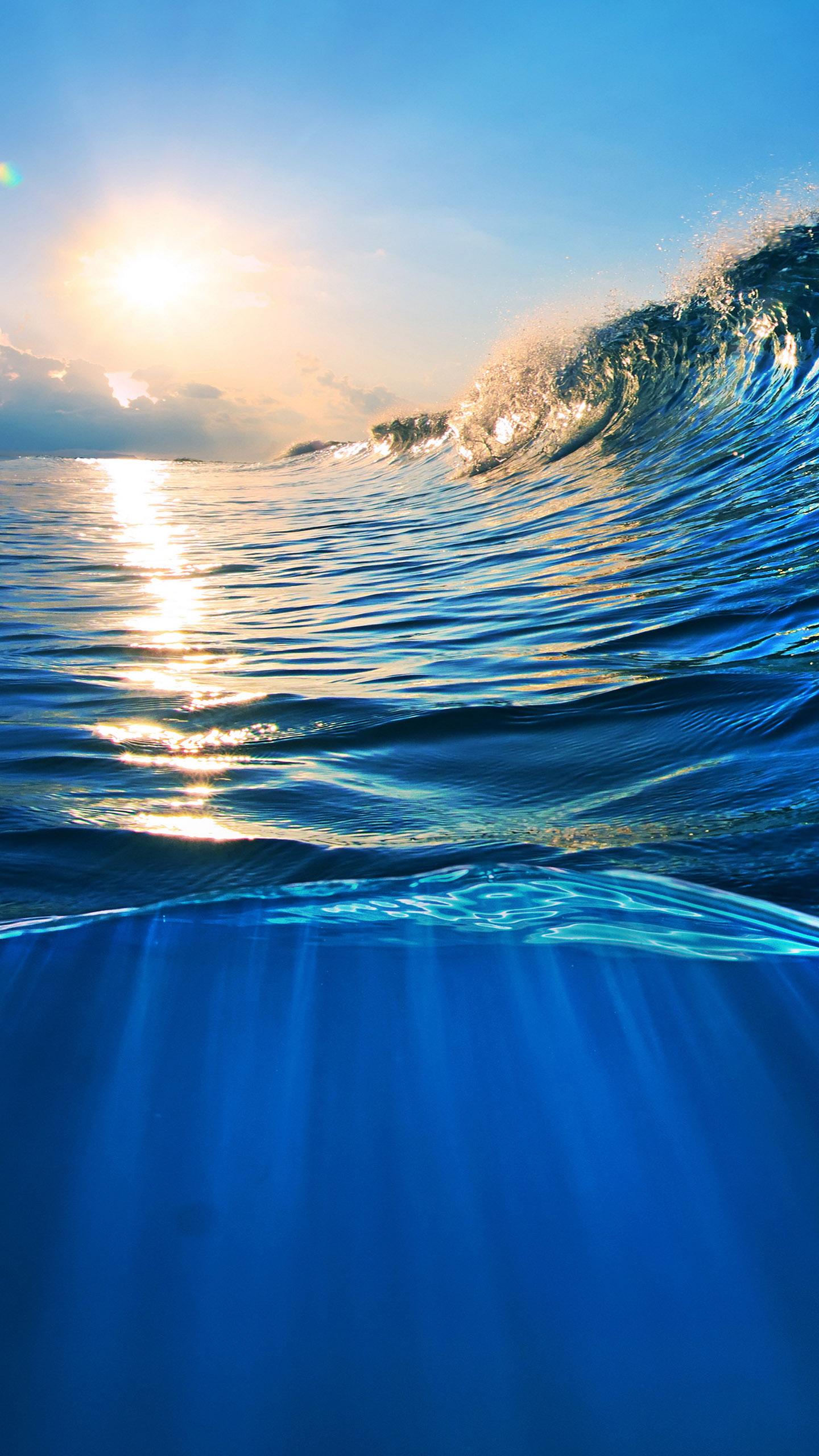Ocean Wave Wallpapers For Galaxy S7 - Splash Of Water Sea , HD Wallpaper & Backgrounds