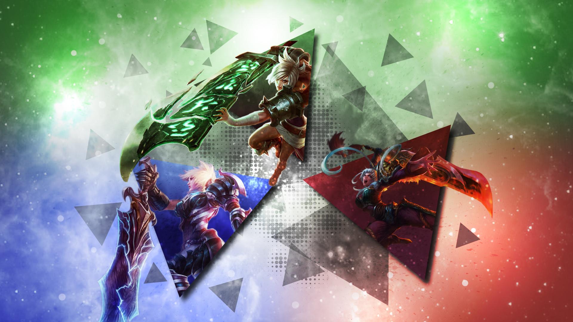 Riven Skins By Heonix Hd Wallpaper Fan Art Artwork - Lol Wallpaper Riven Fanart , HD Wallpaper & Backgrounds