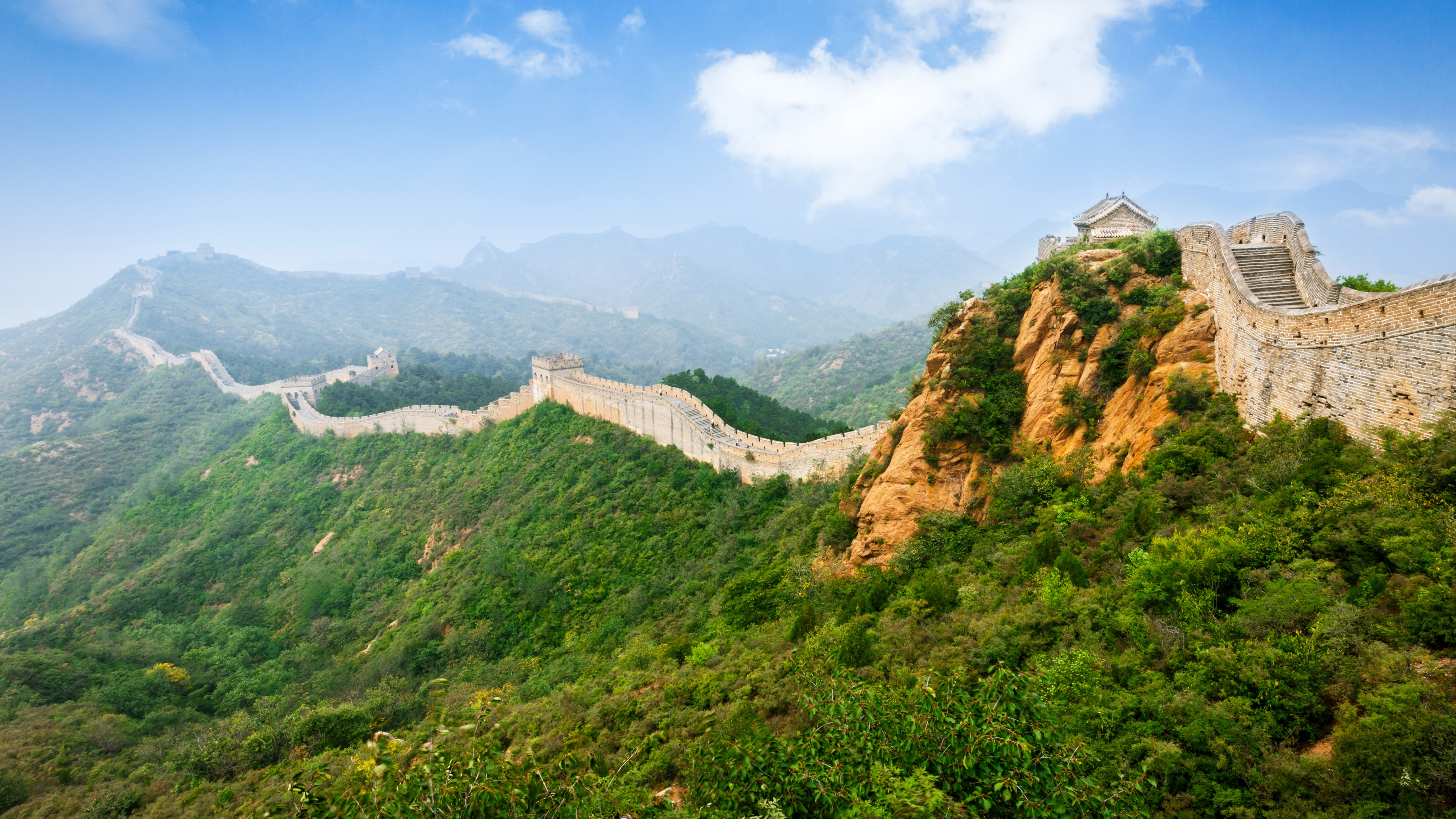Great Wall Of China Wallpaper Panoramic The Great Wall 571653