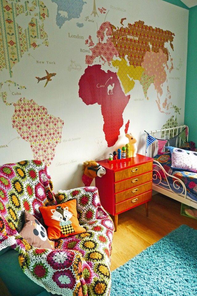 Dream Wall World Map Mural World Map Wallpaper Kids Carte Du