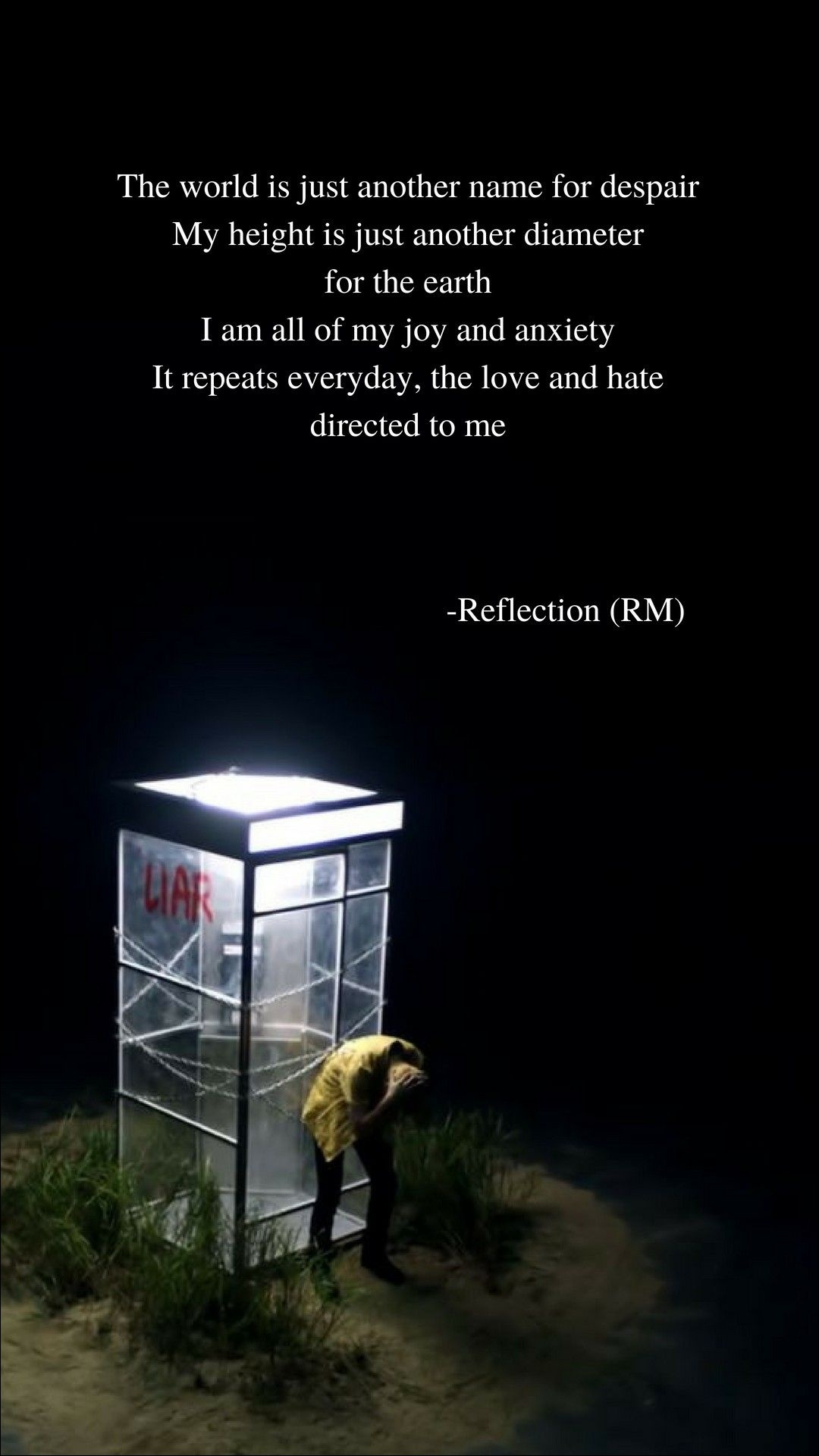 57 575369 reflection rm bts lyrics wallpaper wish i could