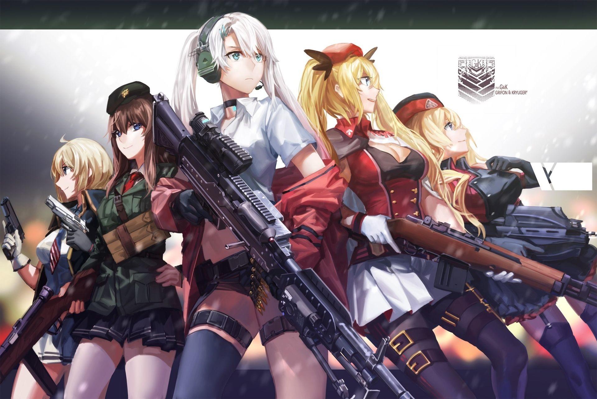 Best Of Anime Girls War Wallpaper Download - Anime Girl With A Gun