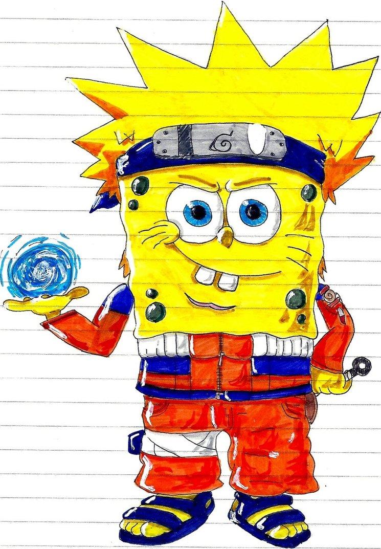 Gambar Kartun Lucu Bergerak Rock Spongebob Vs Naruto