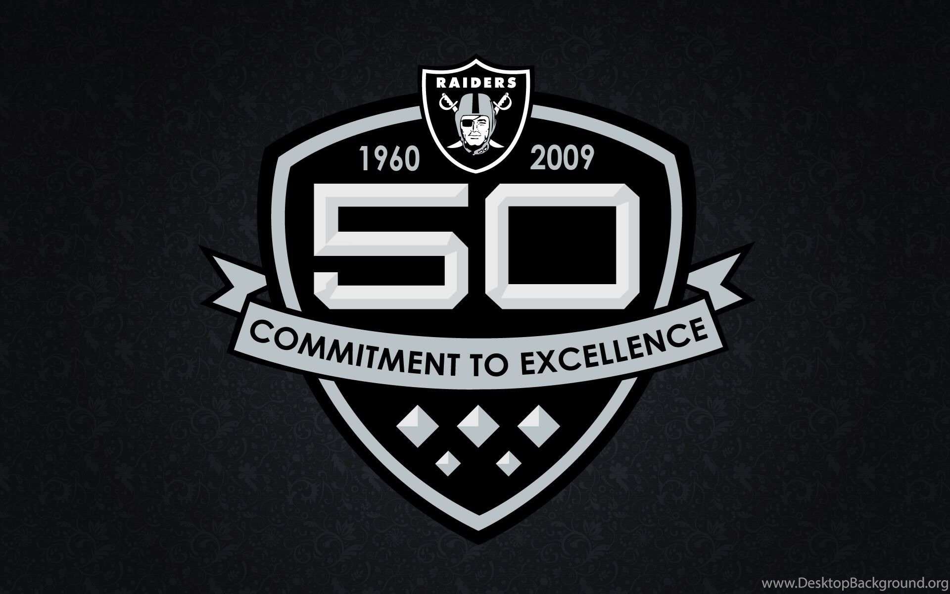 Raiders Logo Wallpaper - Oakland Raiders 50th Anniversary , HD Wallpaper & Backgrounds