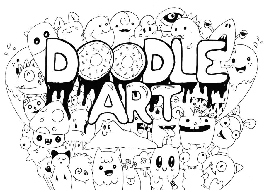 30 Gambar Doodle Art Yang Simple, Keren, Dan Mudah - Doodle Art , HD Wallpaper & Backgrounds