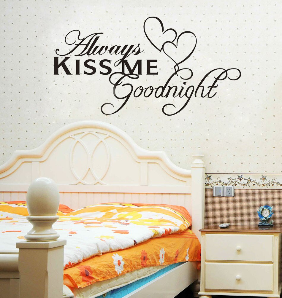 New Home Decor Removable Stickers Always Kiss Me Goodnight - Good Night Bed Room Wallpaper Hd , HD Wallpaper & Backgrounds