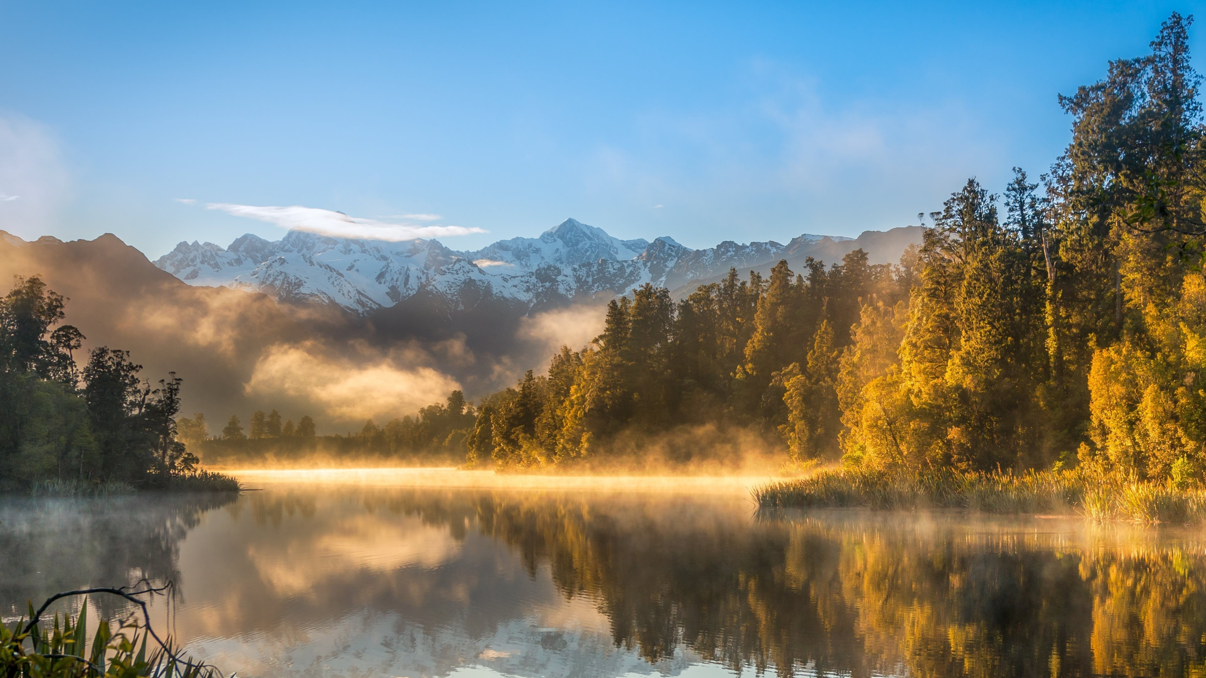En Iyi 17 Fikir, Ultra Hd Backgrounds Pinterest'te - New Zealand Lake Matheson , HD Wallpaper & Backgrounds