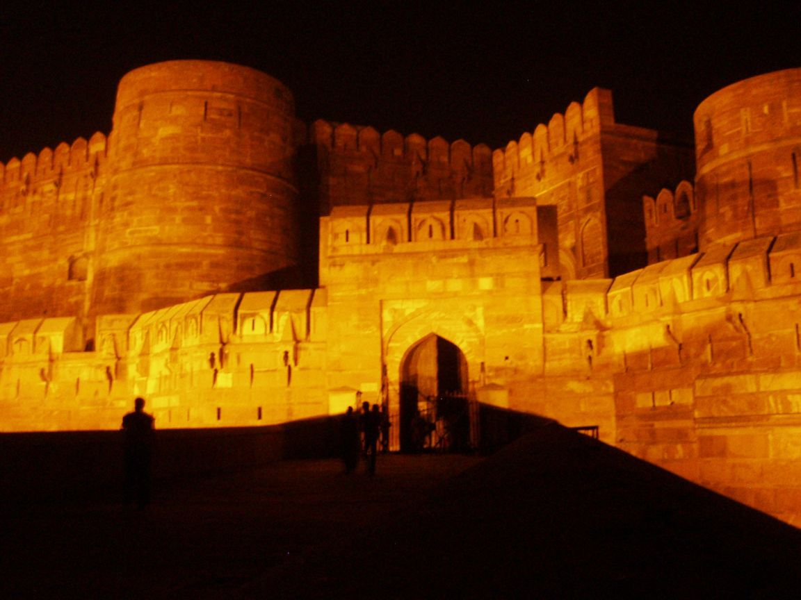 Agra Fort Night Show , HD Wallpaper & Backgrounds