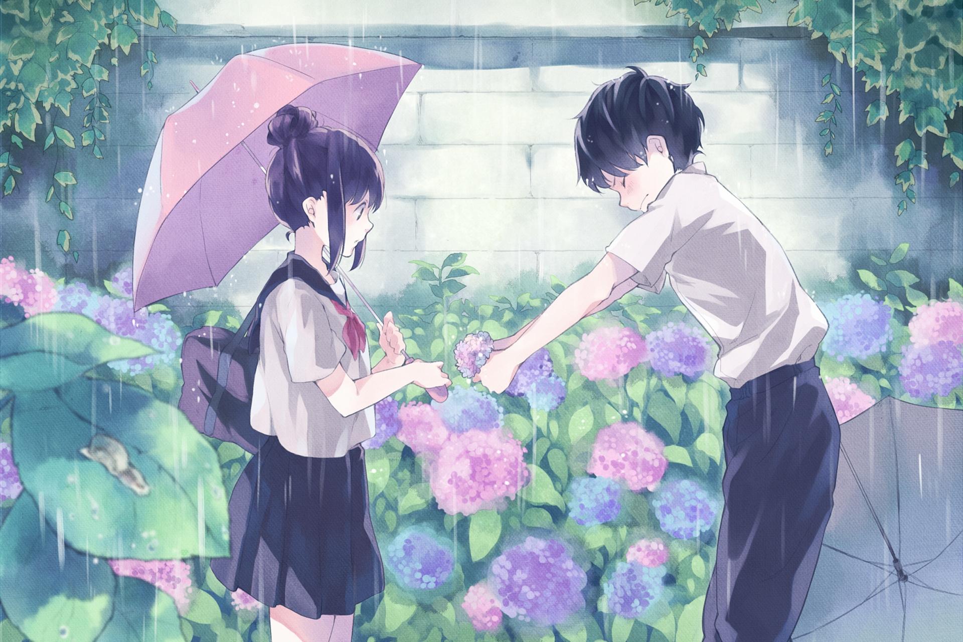 Anime Boy And Girl anime boy wallpapers hd - anime boy confessing to girl