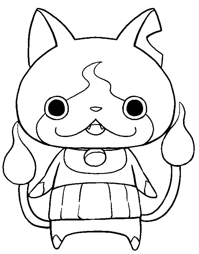 Marvelous Coloriage Yo Kai Watch Jibanyan Yo Kai Watch Para