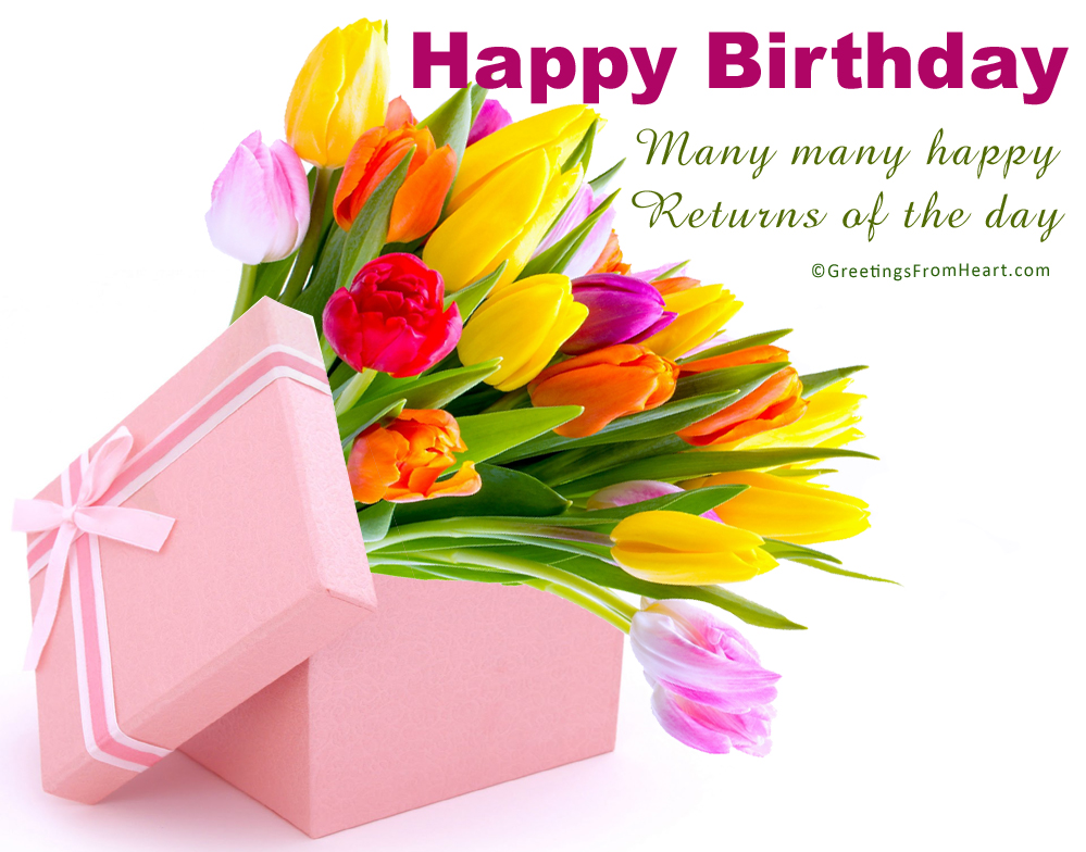 Happy Birthday Greeting - Good Morning Flowers Box , HD Wallpaper & Backgrounds